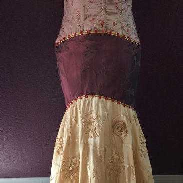 Front Golden Gala Dress