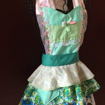 Butterflies around my neck front Full Apron