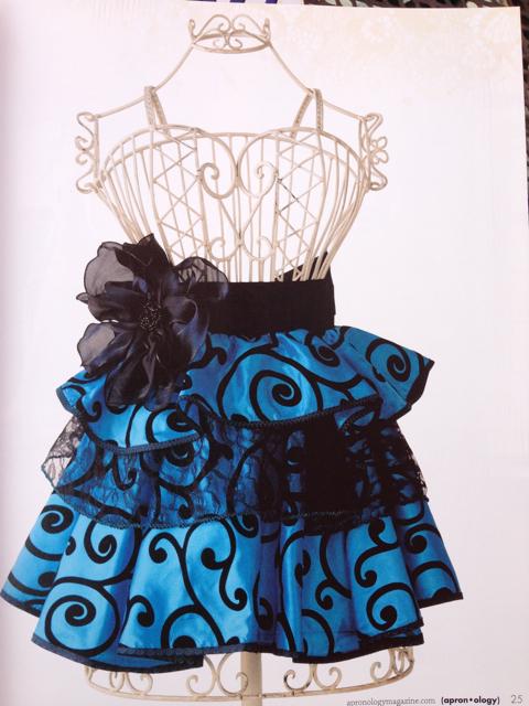 Blue ocean swirls apron