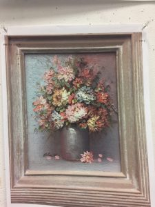 Thrift store Flower original painting