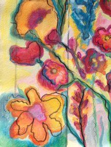 Background yellow flower